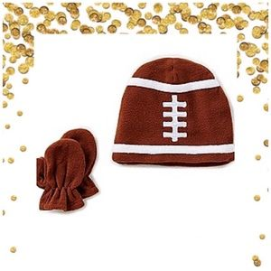 Starting Out Acessories Football hat,mitts set NEW